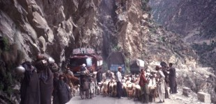 Blocked Highway in Hunza
